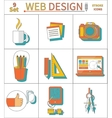 Set Thin Line Icons of Web Design