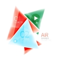 Shiny triangle abstract background vector image vector image