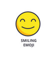 smiling emoji line icon sign vector image vector image
