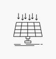 solar panel energy technology smart city line vector image