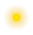sun sun rays icon white background vector image