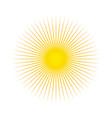 sun sun rays icon white background vector image