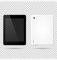 tablet front backside vector image vector image