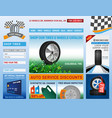 tire shop website vector image