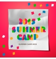 Travel themed Summer Camp poster vector image vector image