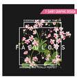 tropical orchid flowers background graphic t-shirt vector image vector image