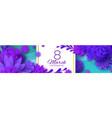 ultra violet banner pink paper cut flower 8 vector image