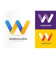 W letter logo icon template vector image