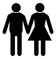 wedding married couple mel female vector image vector image