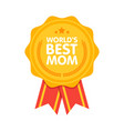 World best mom badge award