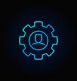 man in cog blue icon vector image