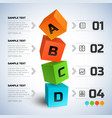 abstract business cubes infographics vector image