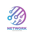 abstract network connection global network vector image vector image