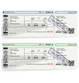 airline passenger boarding pass tickets vector image vector image