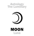 astrology luminary moon luna vector image vector image