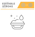 bath sponge line icon vector image vector image