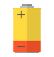 battery icon flat style vector image vector image