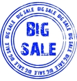 Blue stamp for big sale vector image