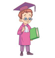 boy graduating high school vector image
