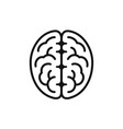 brain side view icon intellect symbol simple vector image vector image