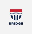 bridge logo vector image vector image