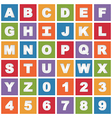 bright alphabet icons vector image vector image