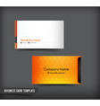Business Card template set 61 vector image vector image