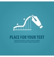 business logo design template chart vector image