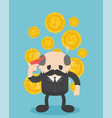 businessman boss think hard about money vector image vector image