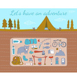 Camping adventure set vector image vector image