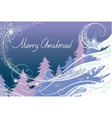 Christmas card the forest vector image
