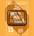 color vintage tobacco shop banner vector image vector image