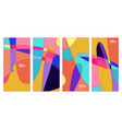 colorful curvy liquid background for banner and vector image vector image
