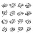 comic colored sound icons set simple style vector image vector image