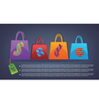commercial background with shopping bags vector image vector image