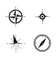 compass navigate set in black and white color vector image