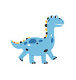 cute badragon walking happy smiling dinosaur vector image