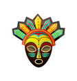 cute colorful ritual african mask with red green vector image vector image