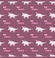 cute dinosaurs with crowns seamless pattern on the vector image vector image