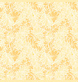 damask teardrop gold ornament seamless pattern vector image vector image