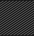 diagonal stripes seamless pattern black and white vector image vector image