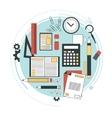 Distance education online courses brainstorm vector image