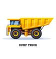 dump truck tipper dumper haul industry machine vector image vector image