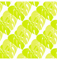 floral pattern with palm leaves vector image vector image