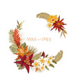 floral wedding frame invitation greeting vector image vector image