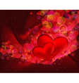 Flying hearts abstract background with space for vector image vector image