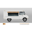 food truck view from right side vector image