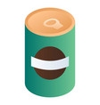 green bean can icon isometric style vector image vector image