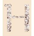 H School alphabet letter vector image