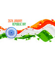 happy republic day abstract indian flag vector image vector image